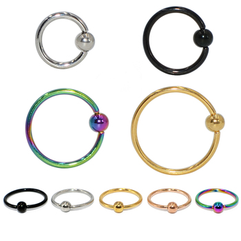 1pcs Surgical Steel Ball Closure Ring Captive Bead Ring Nipple Nose Hoop Septum Rings Eyebrow Tragus Earring Piercing Jewelry image