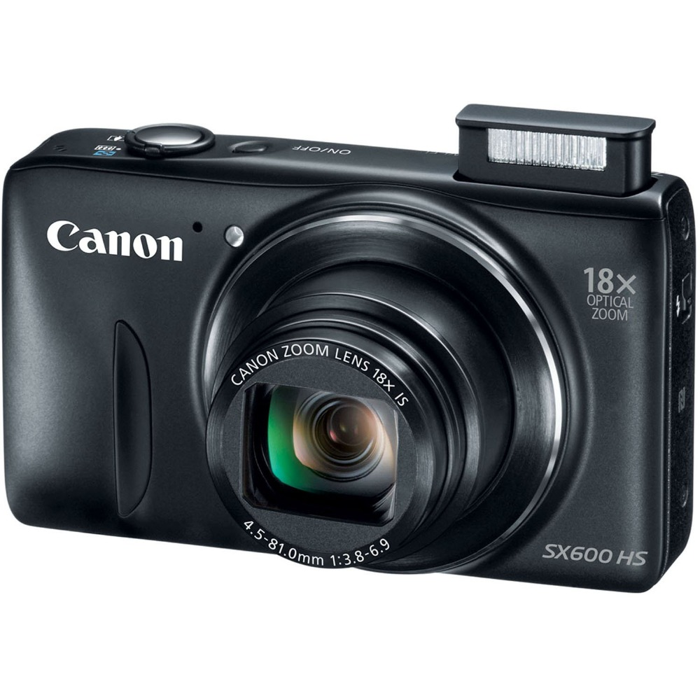 USED Canon PowerShot SX600 HS 16MP Digital Camera (Black) 18x Optical Zoom 1080p Full HD NFC Wi-Fi image