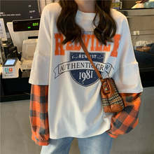 100% algodão t camisas das mulheres 2021 verão manga curta coreano solto camiseta do sexo feminino estudante harajuku estilo moda roupas ins maré