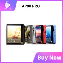 Hidizs AP80 PRO titanium alloy 2*ESS9218P Bluetooth Music Player MP3 USB DAC Hi-Res Audio DSD64/128 Apt-X/LDAC FM Step Counter