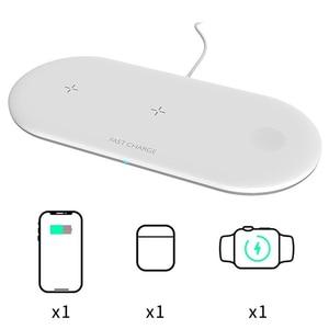 Image 2 - 3 ב 1 10W אלחוטי מטען תחנת Stand Pad עבור iPhone Apple שעון Airpods טעינת Dock Stand אלחוטי טעינה כרית תחנה