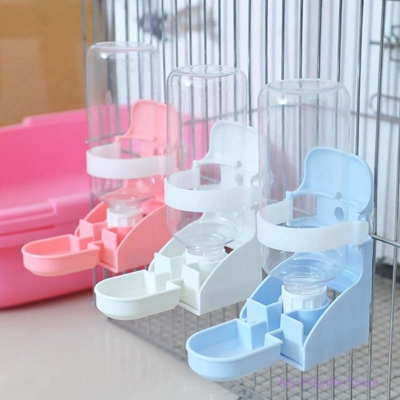 350ML Pet Cage Automatic Water Drinker Rabbit Cat Small Pets Hanging Drinking Bottle Dispenser Pets Supplies C42 image