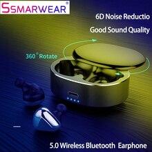Сенсорное управление TWS Мини Bluetooth наушники Беспроводные спортивные наушники-вкладыши 3D стерео гарнитура наушники с микрофоном зарядная коробка