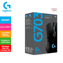 Gaming-Mouse Logitech G703 POWERPLAY Lightspeed Compatible HERO 1 6 with 1ms-Report-Rate