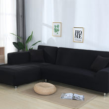 1pc Elastic Sofa Covers for Living Room Solid Color Spandex Sectional Corner Slipcovers Couch Cover L Shape Need Buy 2PCS Cover