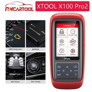 Xtool x100 pro x100 pro2 chave automática ecu programador obd2 correção de quilometragem odômetro x100 pro 2 obd 2 obd2 ferramenta de diagnóstico do carro|Programadores de chave de carro| |  -