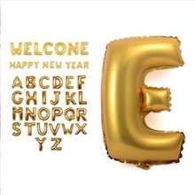 40 inches Gold silver Letter Foil Balloons Birthday Party Banner Helium Letter Balloon Wedding Decor