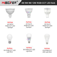 Miboxer 4 Вт 5 6 9 12 rgb cct Светодиодная лампа e27 gu10 mr16