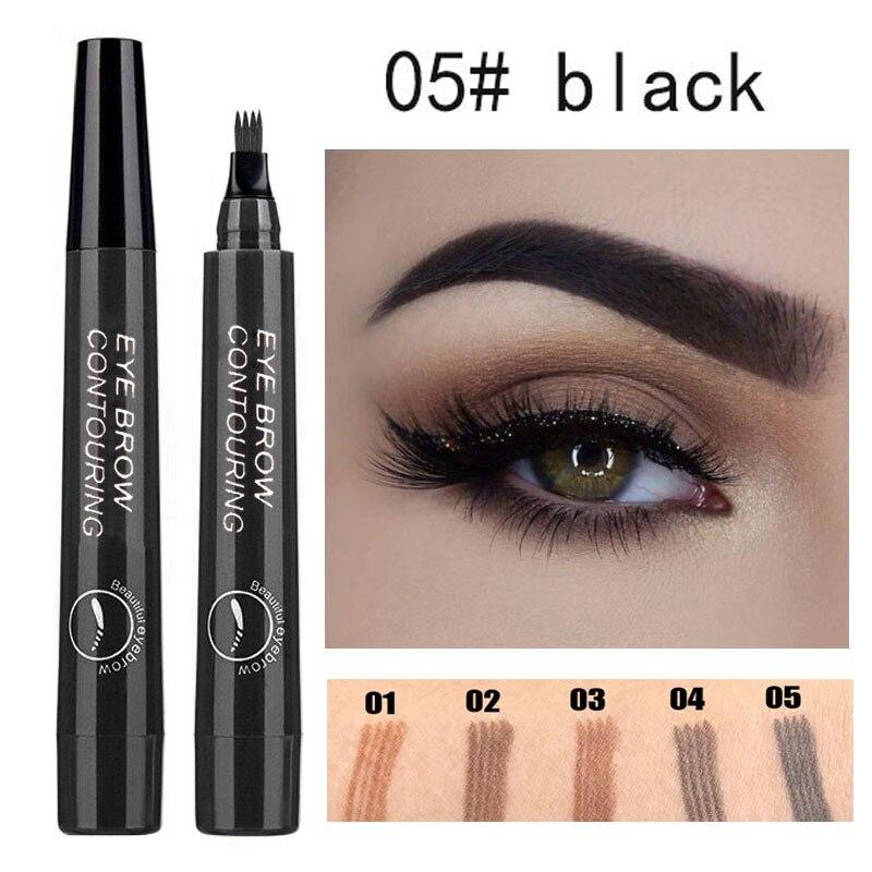 Natural escuro marrom líquido sobrancelha lápis impermeável microblading sobrancelha realçadores de longa duração natural cosméticos feminino maquiagem