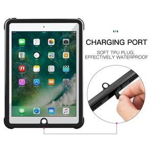 Image 3 - Pour iPad 9.7 2017 2018 étui étanche antichoc anti poussière housse de tablette avec support réglable intégré protecteur décran