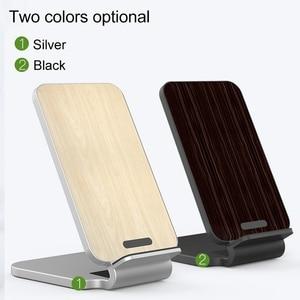Image 2 - KISSCASE 10W ładowarka bezprzewodowa do iPhone XS drewniane szybkie bezprzewodowe ładowanie do Samsung Galaxy S9 S8 uwaga 10 ładowarka do telefonu