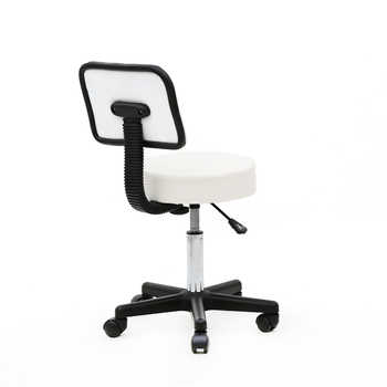 Round Shape Plastic Adjustable Salon Stool Bar Stool Barber Chair Black Suitable for salon home and office