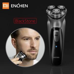 Image 1 - Xiaomi Mijia 電気シェーバーかみそりシェービングマシンメンズ電気シェーバー 3 ヘッドシェーバーひげトリマー男性 Enchen ブラックストーン