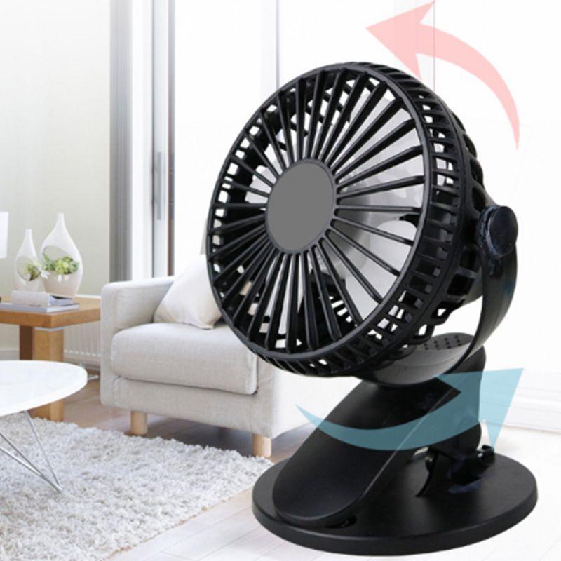 Mini Clip Fan USB Rechargeable Desktop 360 Clip Fan Protable Handheld Car Fans For Home Traving