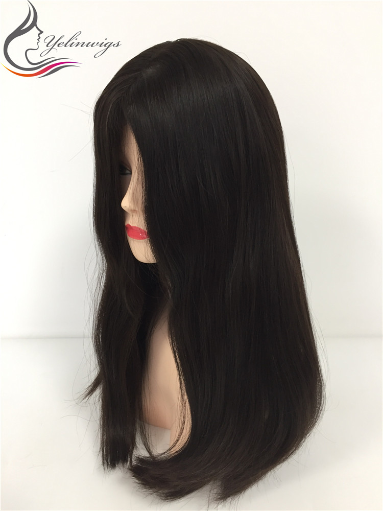 High Density 21 Inch 4# Color Best Grade European Hair Jewish Kosher Wigs For Jewish Women