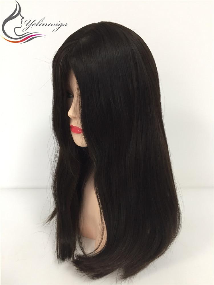 High Density 21 Inch 4# Color Best Grade European Hair Jewish Kosher Wigs For Jewish Women