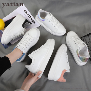 Image 3 - New Designer Shoes Woman Wedges Platform Sneakers Lace Up Breathable Casual Chunky  Ladies White  C0 91