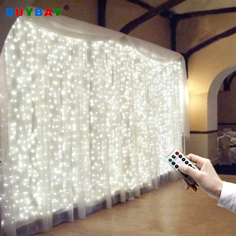 3m X 3m 300LEDs Led Curtain String Light USB Remote-control String Lamp For Christmas Xmax Wedding 8 Modes Decoration Lampara
