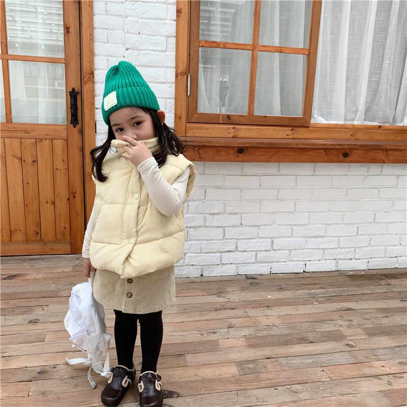 Зимний детский жилет, пальто новое поступление, корейский стиль, хлопковый утепленный, подходит ко всему, модный, милый, для маленьких девочек и мальчиков