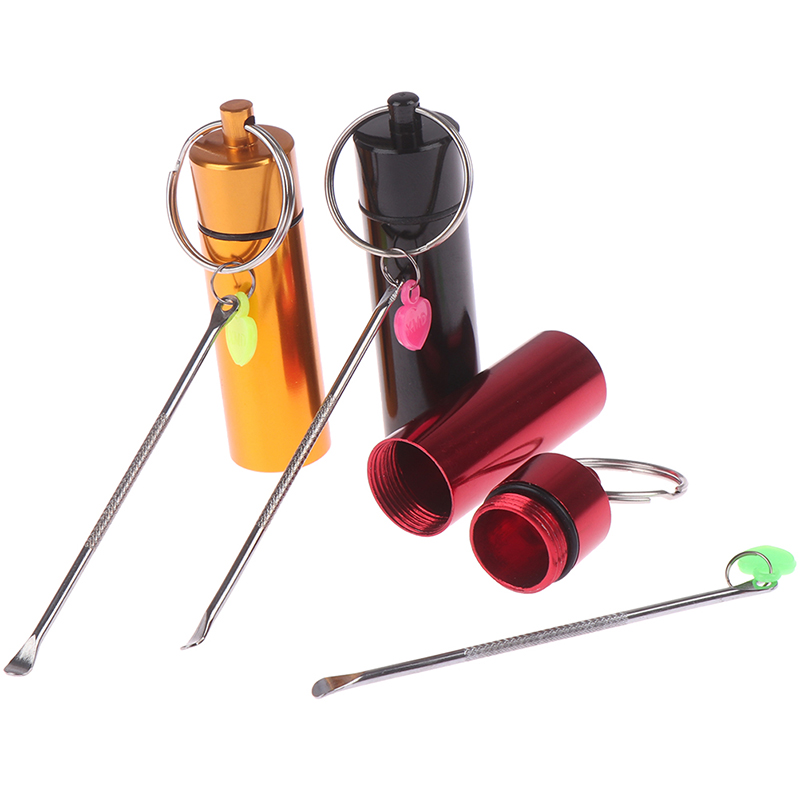 Mini Aluminum Alloy Spoon Medicine Bottle Use Sniffer Snorter Snuff Powder Tobacco Shovel Smoking Accessories With Metal Spoon