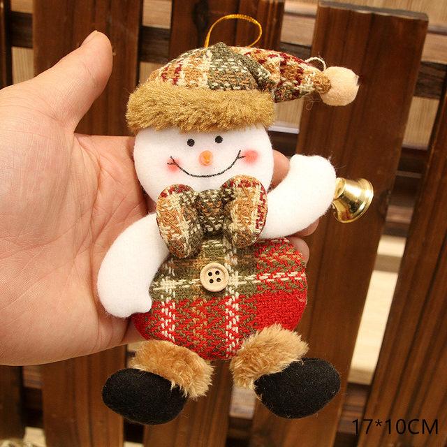 New Year 2020 Cute Santa Claus/Snowman/Angel Christmas Dolls Noel Christmas Tree Decoration for Home Xmas Navidad 2019 Kids Gift 41