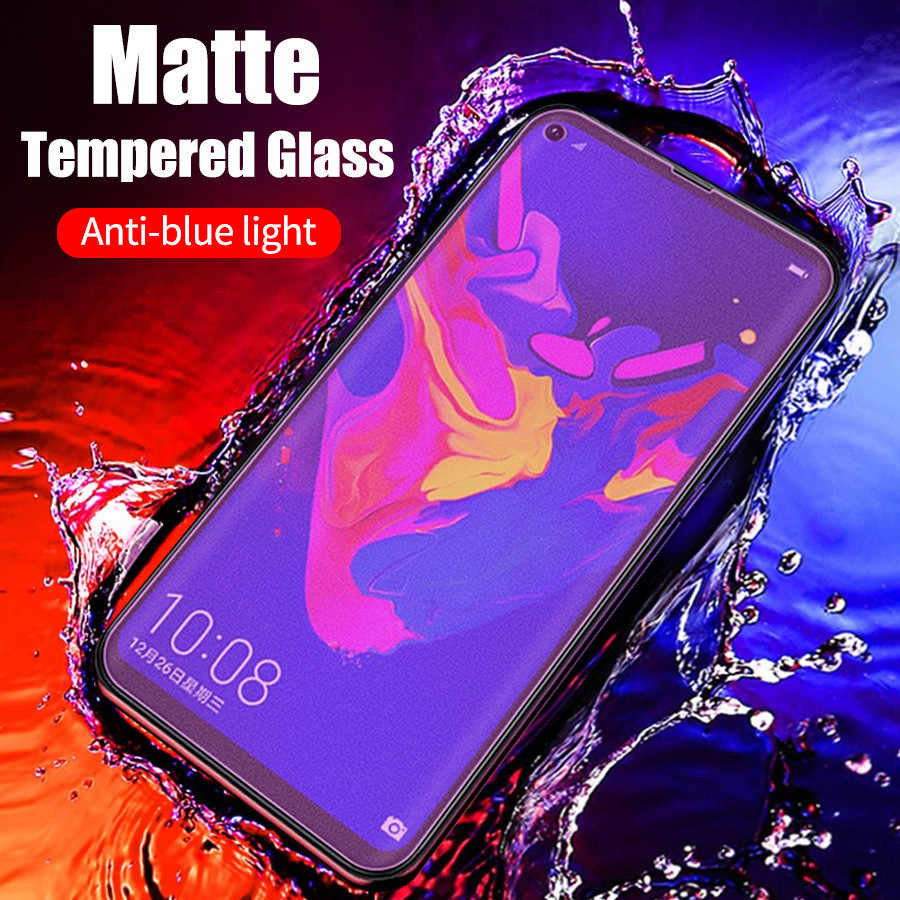 NO Fingerprints Matte Frosted Anti Blue Light Tempered Glass For Huawei P30 Pro Lite Mate 20 Lite Honor 20 Pro View 20 8X
