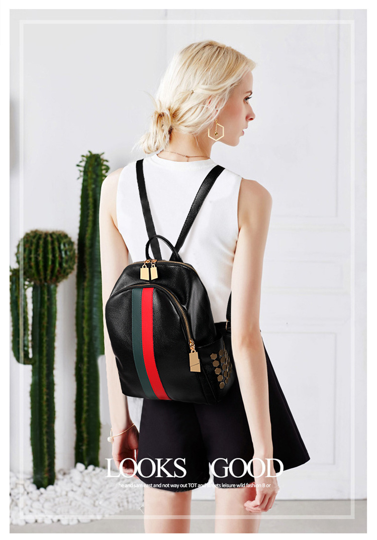 H70fe9d7a22cd4180af5c0263a6149057A Luxury Famous Brand Designer Women PU Leather Backpack Female Casual Shoulders Bag Teenager School Bag Fashion Women's Bags