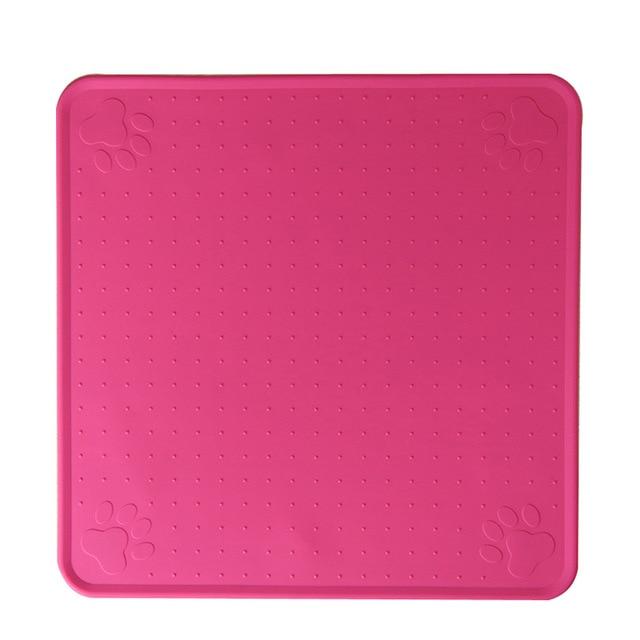 83 Rose Red-48*27cm Pet Dog Puppy Cat Feeding Mat Pad