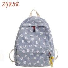 Women Fashionable Canvas School Bags For Teenage Girls Bookbags Fashion Backpacks Bagpack Student Back Pack