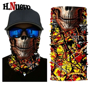 Mężczyzna kobiet Durag Motor kominiarka z czaszką twarz chustka fular wiatroszczelna Masque Moto chusta na Halloween Dancce Party maska taktyczna 2018