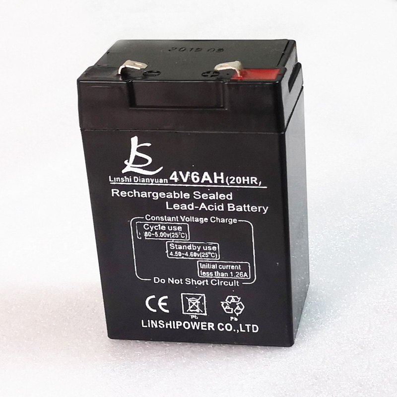 Celda de batería de almacenamiento de ácido de plomo recargable, celda de 6000mAh para bombilla LED y báscula electrónica, sin mantenimiento, 4V, 6,0ah, EE. UU.