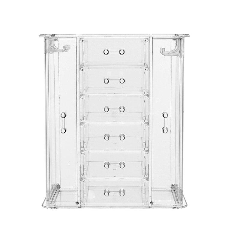 Boîte de rangement cosmétique transparente tiroir multicouche soins de la peau finition commode Collection de rouge à lèvres - 4