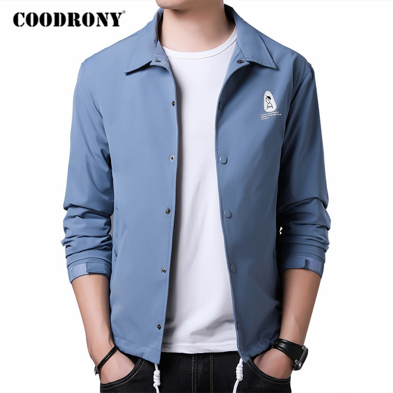 COODRONY Brand Jacket Men High Quality Streetwear Fashion Casual Coat 2020 Autumn Winter New Arrival Mens Clothes M - 5XL C8007