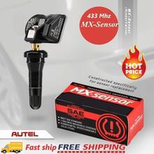 Autel sensörü araba evrensel TPMS lastik basıncı kauçuk sensörü programlanabilir 433MHz