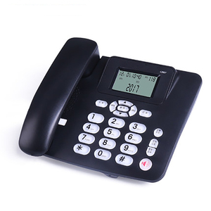 Image 1 - Wired Landline Phone with Speaker, R Key, Button Light, Adjustable Font Brightness, Dual Port Corded Telephone for Home Office
