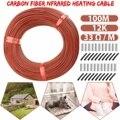 Нагревательный кабель из углеродного волокна  100 м
