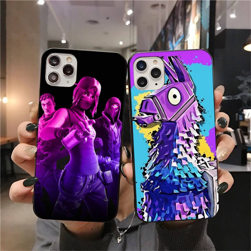 Dabieshu Hot game Fort night black Phone Case Hull for iPhone 11 pro XS MAX 8 7 6 6S Plus X 5S SE 2020 XR case