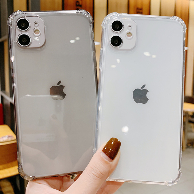 Transparent Clear Phone Case For iPhone SE 2020 2 SE2 Cover For iPhone 12 11 Pro Max X Xr Xs 7 8 6 6S Plus Funda Silicone Coque