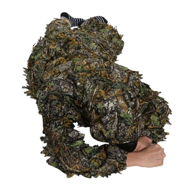 Hunting clothes New 3D maple leaf Bionic Ghillie Suits Yowie sniper birdwatch airsoft Camouflage Clothing jacket and pants 4