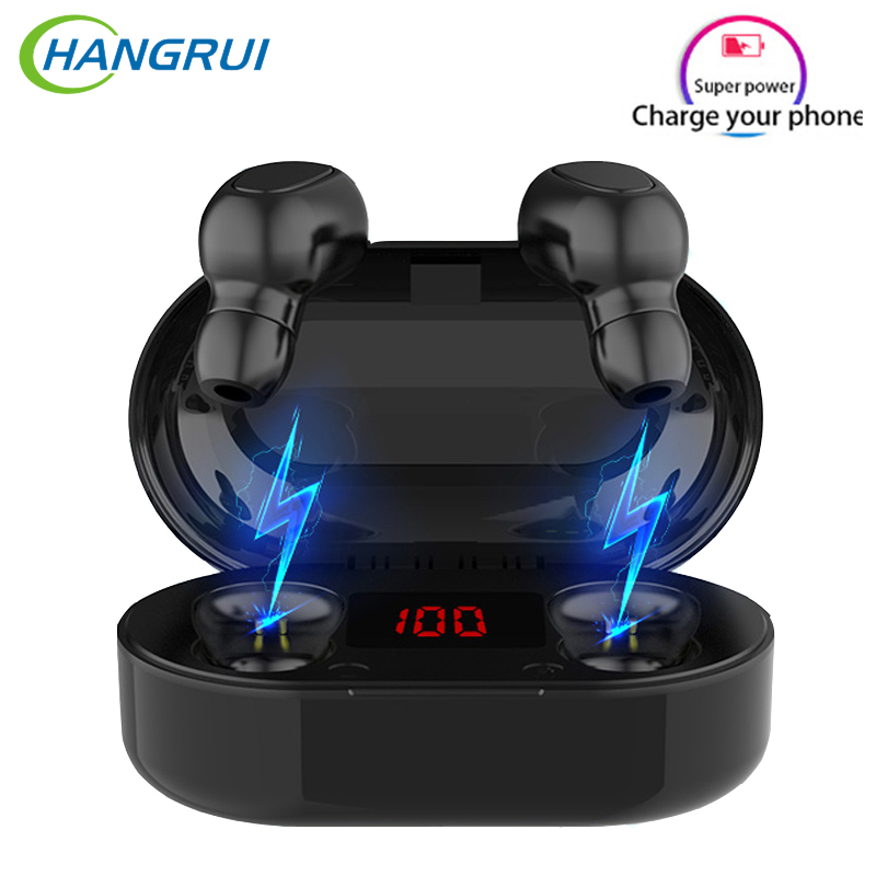 TWS Bluetooth 5.0 Wireless Earphone With Mic LED Display L21 L22 L26 Earbuds Earphones Sport Headsets For Xiaomi Samsung Phone