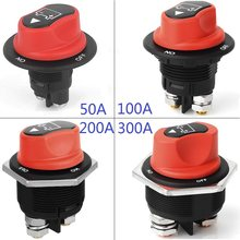 Black Brass Car Battery Isolator ON-Off 2P SPST Mini Battery Switch 12v~32VDC Max 300A200A100A50A For Motorcycles Cars Boats