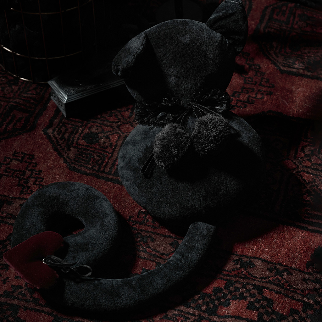 rave, boneca de almofada fofa de gato