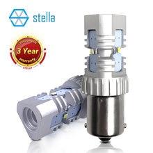 Stella – ampoule led canbus 1156 BA15S pour voiture blanche, 2 pièces, P21w, feux de stop, feux de recul, feux de signalisation DRL