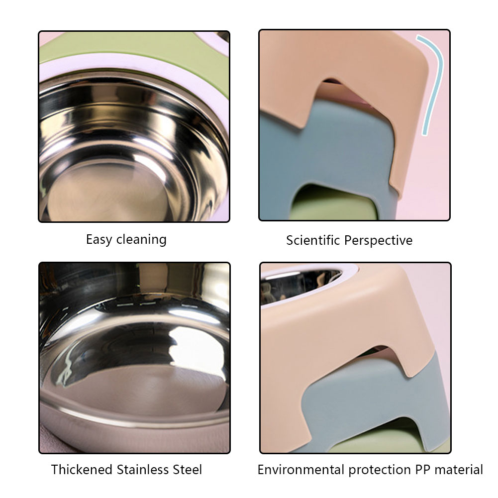 Thicken Pet Food Bowl Stainless Steel Double Pet Bowls Food Water Feeder for Dog Puppy Cats Pets Supplies Feeding Dishes 17