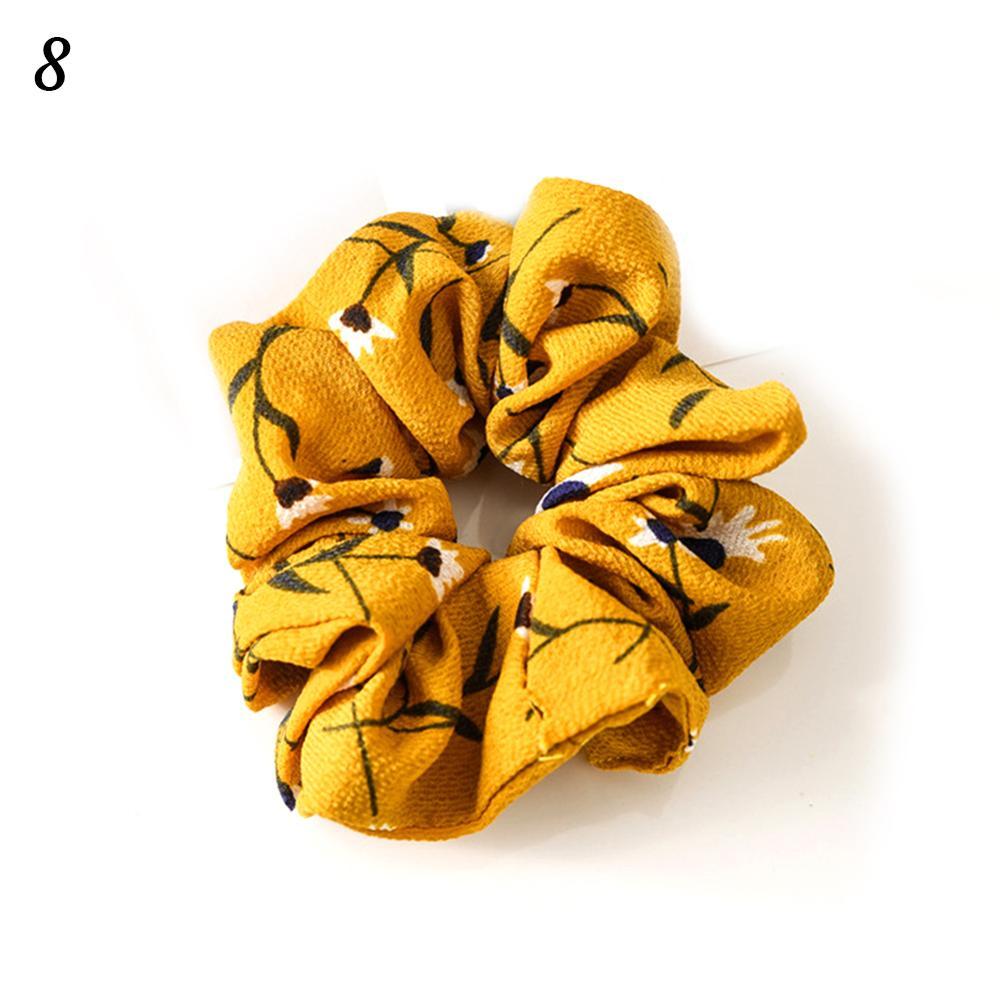 Корейский женский ободок для волос для девочек, полосатые женские резинки для волос, конский хвост, Женский держатель, веревка с ананасовым принтом, аксессуары для волос - Цвет: w8
