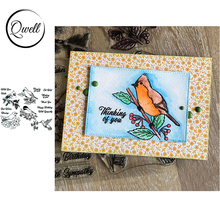 brandy smith clear wishes QWELL 6*8 inch Clear Transparent Stamps Birds Best Wishes Sentiments For DIY Cards Craft Scrapbooking Making Template 2020