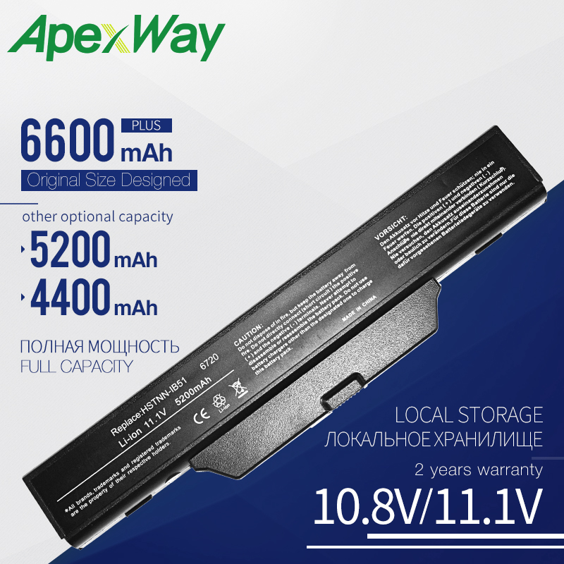 Apexway 6 Cells 4400mAh laptop battery for <font><b>Hp</b></font> 550 Business Notebook 6720s 6730s 6735s <font><b>6820s</b></font> 6830s HSTNN-IB51 HSTNN-IB62 image