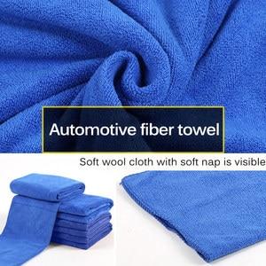 Image 3 - Nowy 50 sztuk ręcznik do mycia samochodu niebieski Anti Scratch szybkoschnący czyszczenie z mikrofibry wielofunkcyjny przyjazny dla skóry myjnia samochodowa 30*30cm