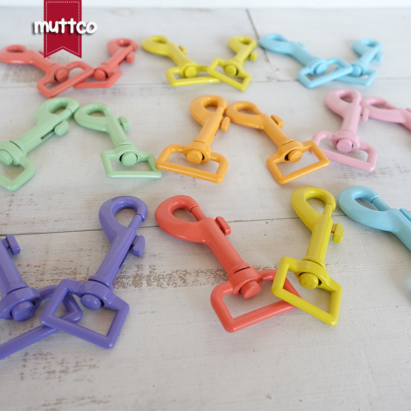 Metal Colourful dog Clasp Kirsite hook buckle hardware for 20mm and 25mm webbing DIY Dog Leash parts top quality 7 colours