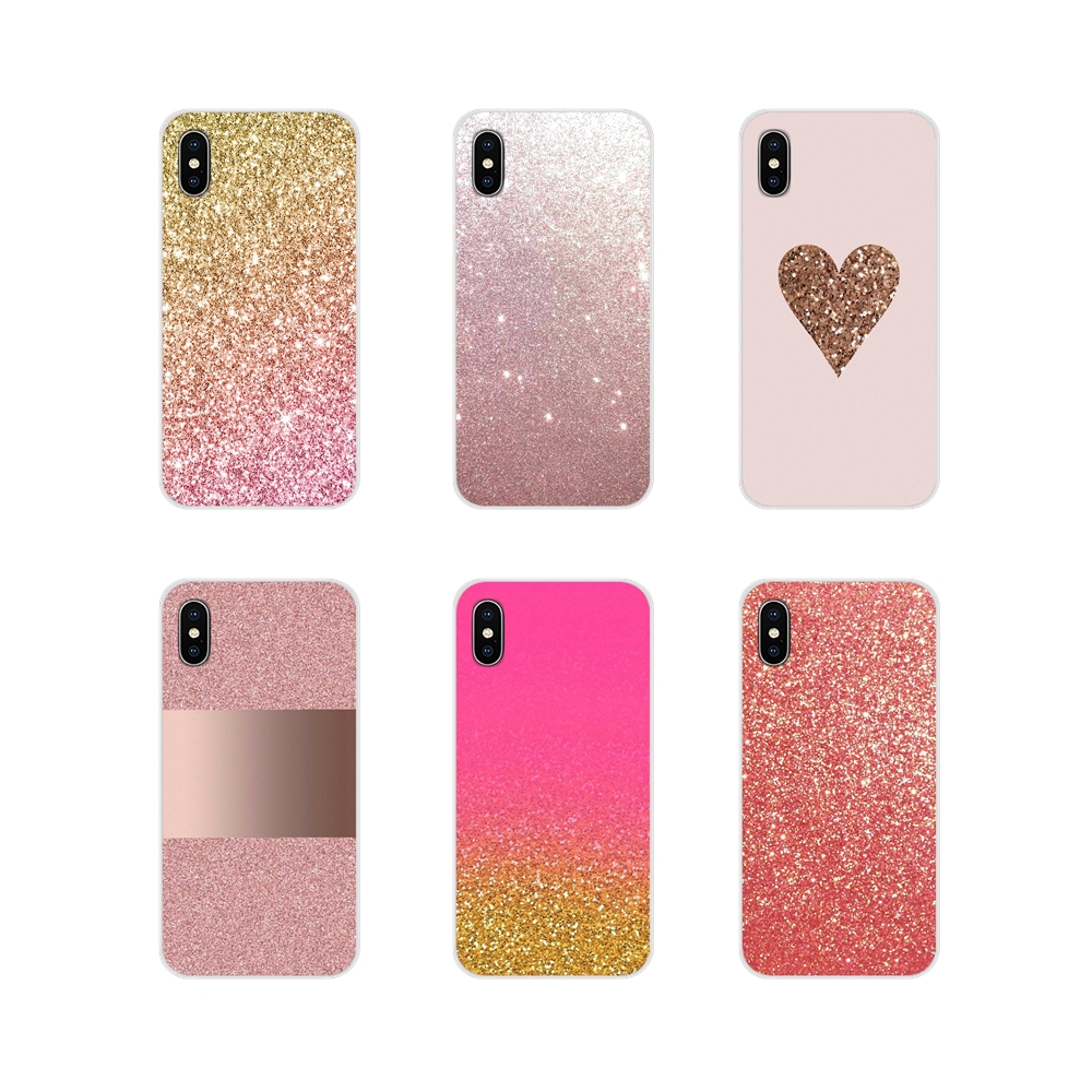 Accessories Phone <font><b>Case</b></font> Cover Pink <font><b>Gold</b></font> rose Glitter For <font><b>Samsung</b></font> Galaxy S3 S4 S5 Mini S6 <font><b>S7</b></font> Edge S8 S9 S10 Lite Plus Note 4 5 8 9 image